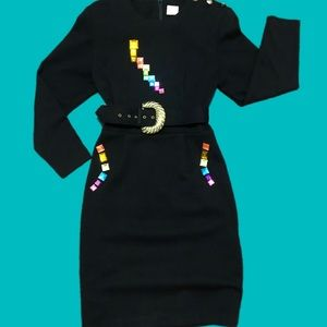 Colorful jeweled vintage dress